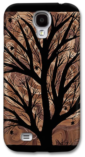 Earth Tones Drawings Galaxy S4 Cases - Swirling Sugar Maple Galaxy S4 Case by Barbara St Jean