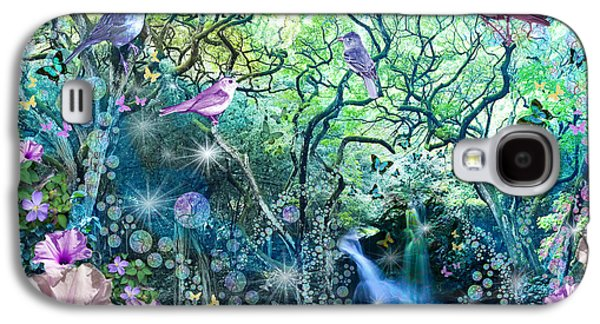 Alixandra Mullins Galaxy S4 Cases - Swirly Tree Garden Galaxy S4 Case by Alixandra Mullins