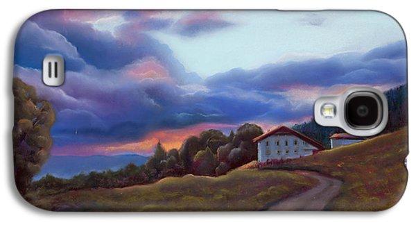 Light Pastels Galaxy S4 Cases - Swiss Clouds - La Ferme des Endroits - La Chaux-de-Fonds Galaxy S4 Case by Marie-Claire Dole