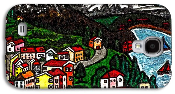 Swiss Drawings Galaxy S4 Cases - Swiss Country Galaxy S4 Case by Monica Engeler