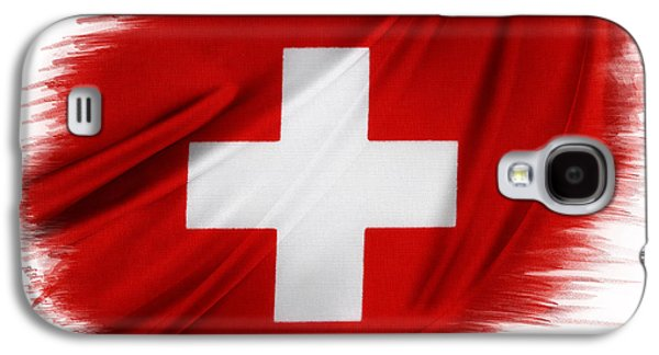 Swiss Photographs Galaxy S4 Cases - Swiss flag Galaxy S4 Case by Les Cunliffe
