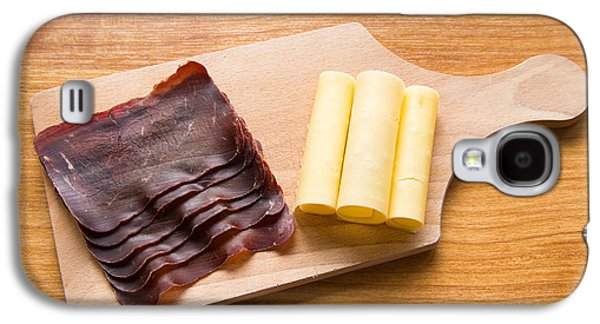 Local Food Galaxy S4 Cases - Swiss food - dried meat and cheese Galaxy S4 Case by Matthias Hauser