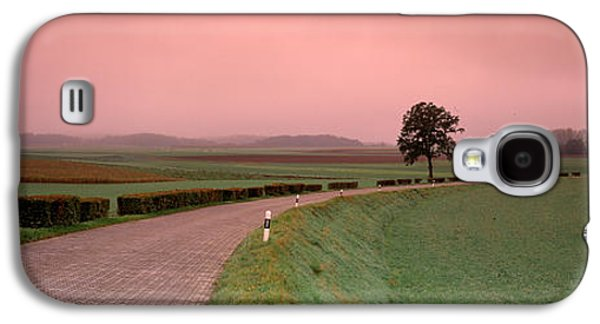 Rural Scenes Photographs Galaxy S4 Cases - Switzerland, Country Road Galaxy S4 Case by Panoramic Images