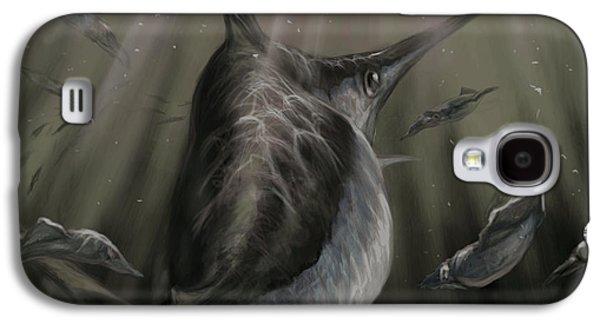 Shark Digital Galaxy S4 Cases - Sword Fish  Galaxy S4 Case by Yusniel Santos