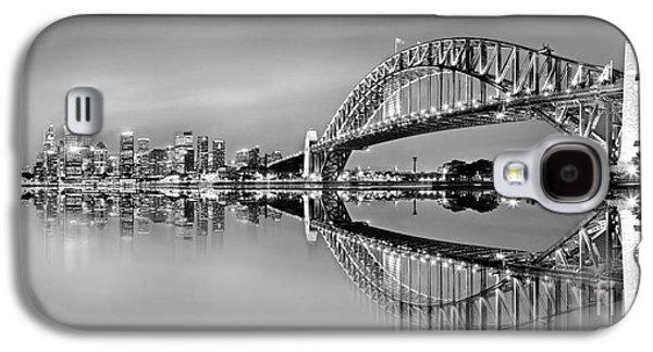 Business Galaxy S4 Cases - Sydney City Reflections - BW Galaxy S4 Case by Az Jackson
