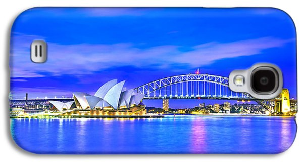 Vivid Colour Galaxy S4 Cases - Sydney Harbour Blues Galaxy S4 Case by Az Jackson