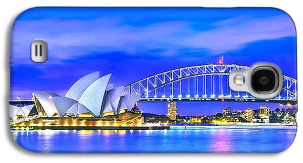Business Galaxy S4 Cases - Sydney Harbour Blues Panorama Galaxy S4 Case by Az Jackson