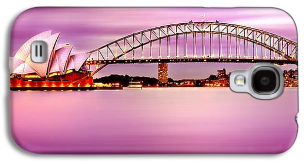 Symbolic Photographs Galaxy S4 Cases - Sydney Harbour Pink Sunset Galaxy S4 Case by Az Jackson