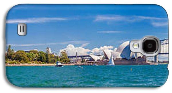 Business Galaxy S4 Cases - Sydney Harbour Skyline 1 Galaxy S4 Case by Az Jackson
