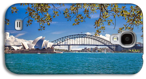Symbolic Photographs Galaxy S4 Cases - Sydney Harbour Skyline 2 Galaxy S4 Case by Az Jackson