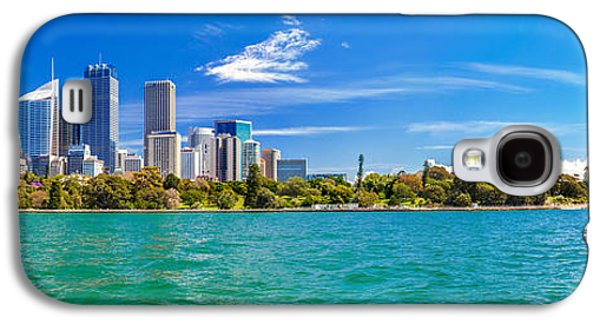 Symbolic Photographs Galaxy S4 Cases - Sydney Harbour Skyline 3 Galaxy S4 Case by Az Jackson