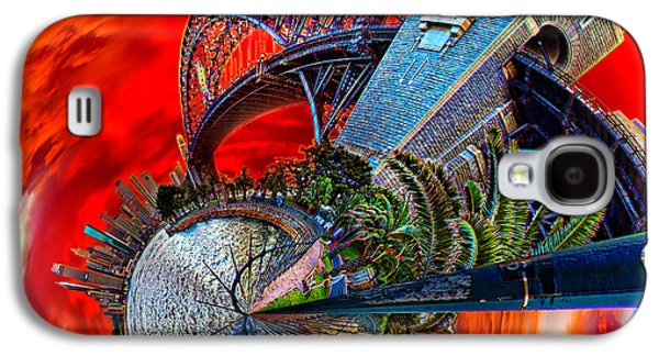 Storm Digital Art Galaxy S4 Cases - Blazing Skies Over Sydney Galaxy S4 Case by Az Jackson