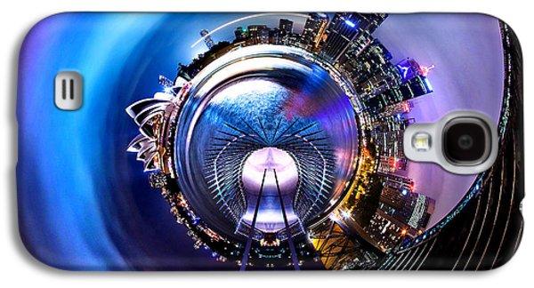 Circular Galaxy S4 Cases - Sydney Harbour Skyline Circagraph Galaxy S4 Case by Az Jackson