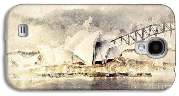 House Digital Art Galaxy S4 Cases - Sydney Opera House Galaxy S4 Case by Shanina Conway