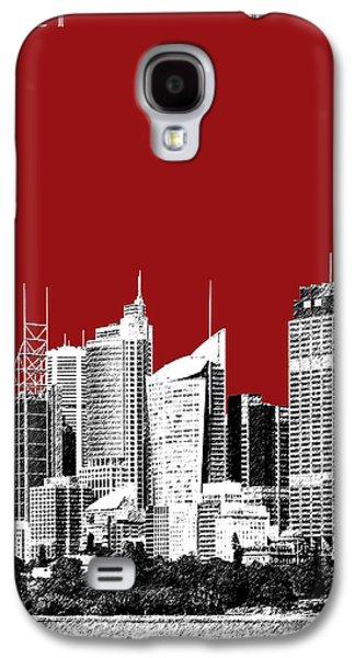 Sydney Skyline 1 - Dark Red Galaxy S4 Case by DB Artist