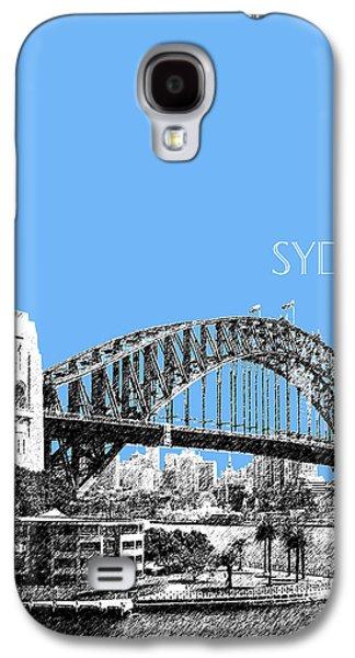 Sydney Skyline 2 Harbor Bridge - Light Blue Galaxy S4 Case by DB Artist
