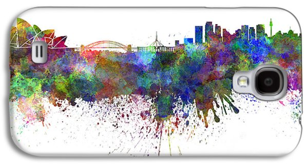 Sydney Skyline In Watercolor On White Background Galaxy S4 Case by Pablo Romero