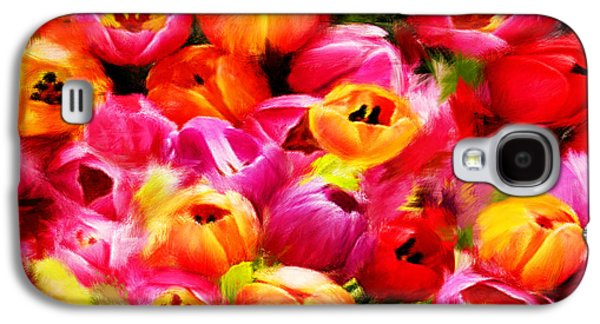 Floral Digital Art Galaxy S4 Cases - Symbol Of Love Galaxy S4 Case by Lourry Legarde