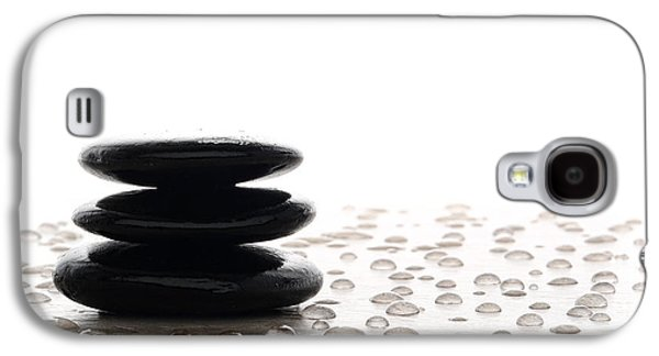 Meditative Photographs Galaxy S4 Cases - Symbolic Zen Meditation Cairn Galaxy S4 Case by Olivier Le Queinec
