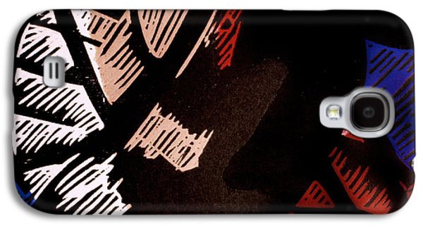 Linocut Paintings Galaxy S4 Cases - Sympathetic Magic 1 Galaxy S4 Case by Philip Slagter