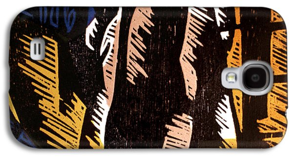 Linocut Paintings Galaxy S4 Cases - Sympathetic Magic 2 Galaxy S4 Case by Philip Slagter