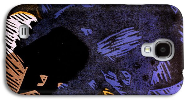 Linocut Paintings Galaxy S4 Cases - Sympathetic Magic 3 Galaxy S4 Case by Philip Slagter