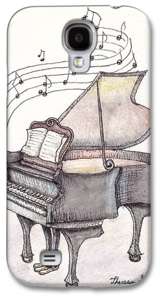 Piano Paintings Galaxy S4 Cases - Symphony Galaxy S4 Case by Theresa Stinnett