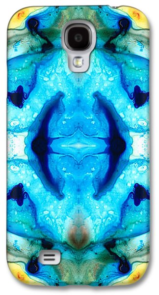 Synchronicity - Colorful Abstract Art By Sharon Cummings Galaxy S4 Case by Sharon Cummings