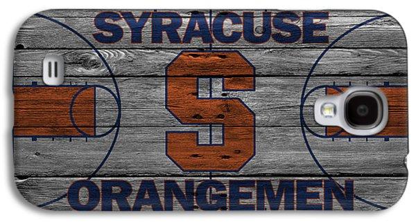 Foul Ball Galaxy S4 Cases - Syracuse Orangemen Galaxy S4 Case by Joe Hamilton