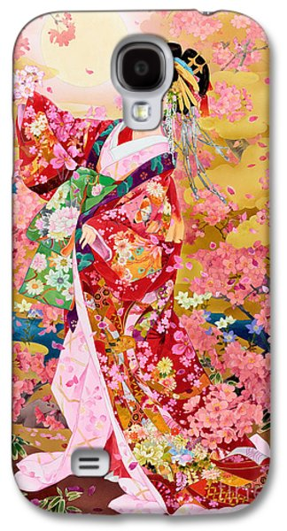 Sakura Paintings Galaxy S4 Cases - Syungetsu Galaxy S4 Case by MGL Meiklejohn Graphics Licensing