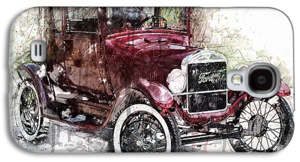 Ford Model T Car Galaxy S4 Cases - 1926 Ford Model T Galaxy S4 Case by Gary Bodnar