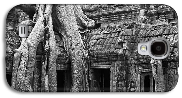 Tree Roots Galaxy S4 Cases - Ta Prohm Roots And Stone 01 Galaxy S4 Case by Rick Piper Photography