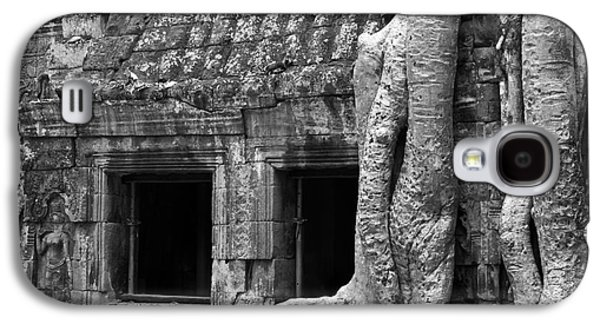 Tree Roots Galaxy S4 Cases - Ta Prohm Roots And Stone 02 Galaxy S4 Case by Rick Piper Photography