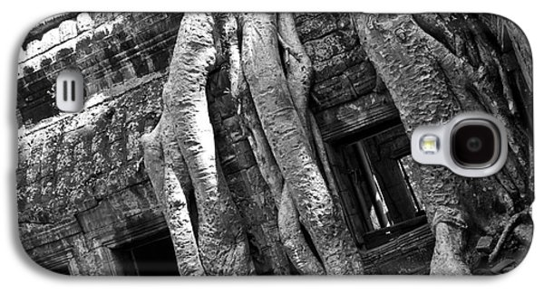 Tree Roots Galaxy S4 Cases - Ta Prohm Roots And Stone 03 Galaxy S4 Case by Rick Piper Photography