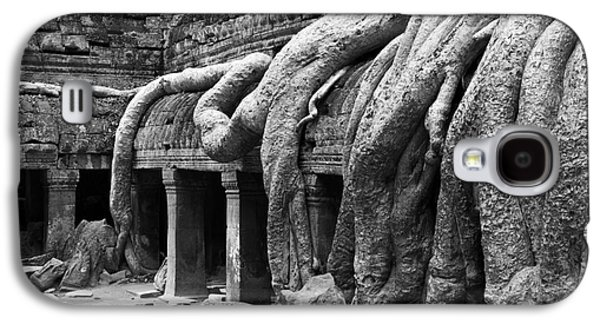 Tree Roots Galaxy S4 Cases - Ta Prohm Roots And Stone 12 Galaxy S4 Case by Rick Piper Photography