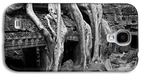 Tree Roots Galaxy S4 Cases - Ta Prohm Roots And Stone 13 Galaxy S4 Case by Rick Piper Photography