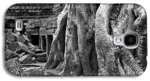 Tree Roots Galaxy S4 Cases - Ta Prohm Roots And Stone 14 Galaxy S4 Case by Rick Piper Photography