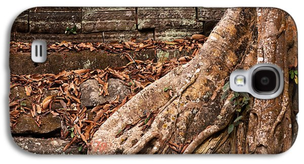 Tree Roots Galaxy S4 Cases - Ta Prohm Roots And Stone 17 Galaxy S4 Case by Rick Piper Photography