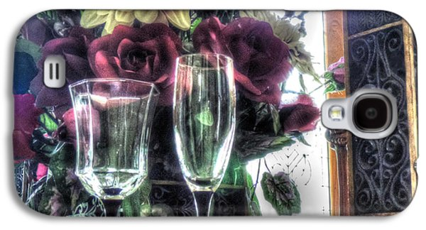 Wine Holder Galaxy S4 Cases - Table Arrangement Galaxy S4 Case by Cathy Jourdan