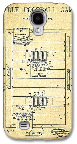 Technical Drawings Galaxy S4 Cases - Table Football Game Patent from 1933 - vintage Galaxy S4 Case by Aged Pixel