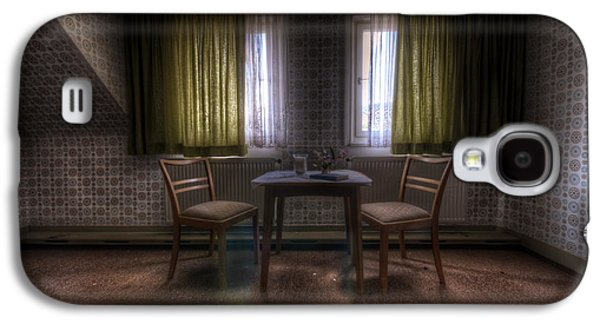 Haunted House Digital Galaxy S4 Cases - Table for two Galaxy S4 Case by Nathan Wright