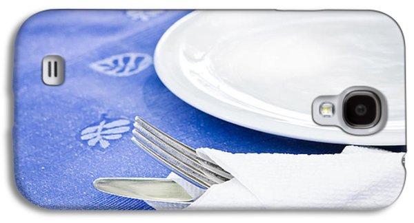 Table Cloth Galaxy S4 Cases - Table setting Galaxy S4 Case by Tom Gowanlock