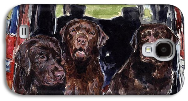 Chocolate Labrador Retriever Galaxy S4 Cases - Tailgaters Galaxy S4 Case by Molly Poole