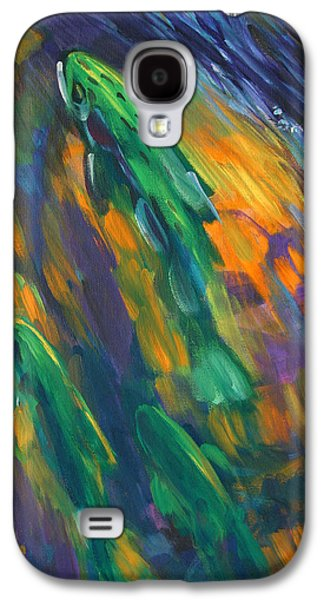 Flyfishing Galaxy S4 Cases - Tailwater Take Galaxy S4 Case by Savlen Art