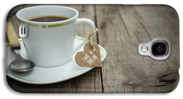 Espresso Galaxy S4 Cases - Take a break Coffee Cup Galaxy S4 Case by Aged Pixel
