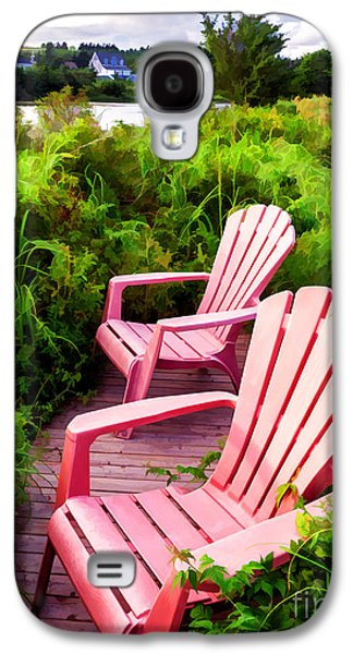 Seated Galaxy S4 Cases - Take a load off Galaxy S4 Case by Edward Fielding