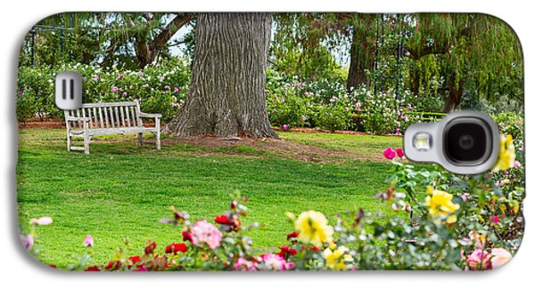 Rosaceae Galaxy S4 Cases - Take a Seat - beautiful Rose Garden of the Huntington Library. Galaxy S4 Case by Jamie Pham