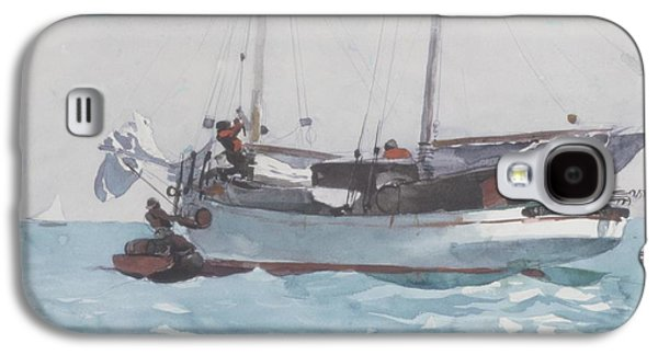 Wet On Wet Paintings Galaxy S4 Cases - Taking on Wet Provisions Galaxy S4 Case by Winslow Homer