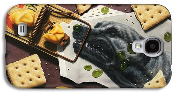 Growling Galaxy S4 Cases - Taking the Bait Galaxy S4 Case by James W Johnson