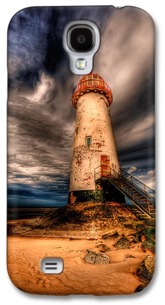 Rail Digital Art Galaxy S4 Cases - Talacre Lighthouse Galaxy S4 Case by Adrian Evans